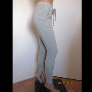 Pam & Gela Pants - Pam & Gela French Terry Distressed Stirrup Pants
